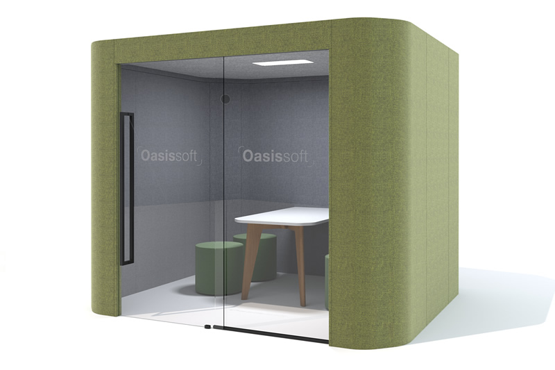 oasis soft team office privacy pod