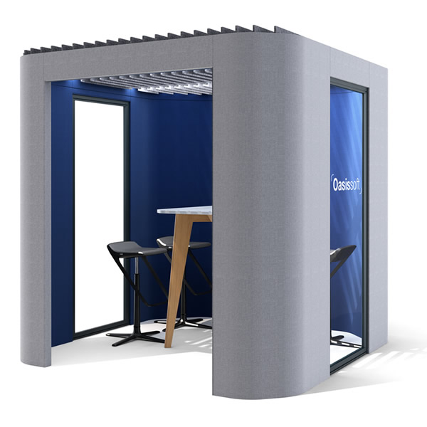 oasis soft acoustic booth