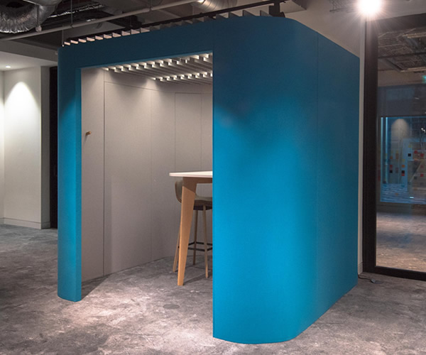 Oasis Berco open office acoustic work booth